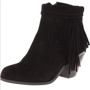 Sam Edelman Louie Fringe Trimmed Ankle Booties